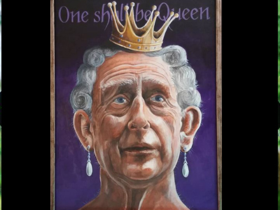 One shall be queen.. acrylics on board